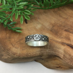 Full Moon Silver Ring Unisex