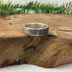 Textured Silver Band for Men & Women