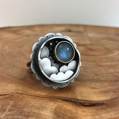 Night Sky Labradorite Ring