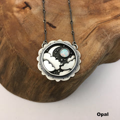 Night Sky & Crescent Moon Pendant