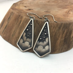Silver Stars & Clouds Earrings