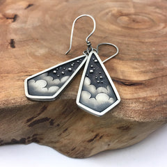 Celestial Jewelry Silver Earrings