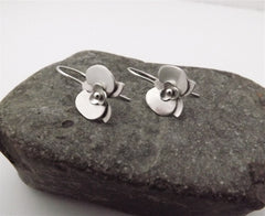 Orchid Earrings In Silver
