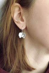 Silver Orchid Earrings - View On