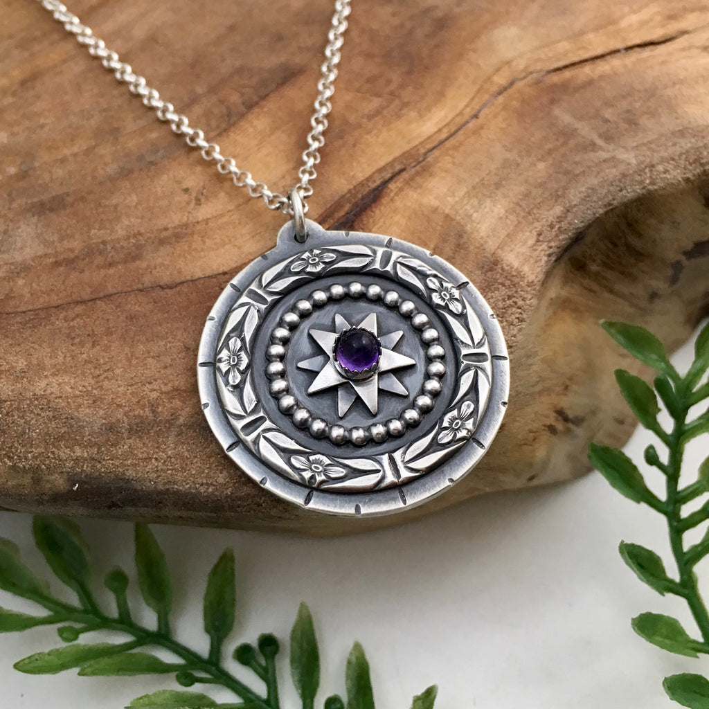 Amethyst Mandala Necklace