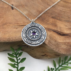 Pattern Mandala with Amethyst