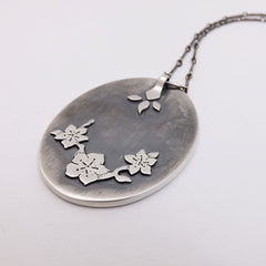 Back of pendant detail - Cherry Blossoms