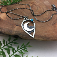 Silver Crescent & Turquoise Jewelry
