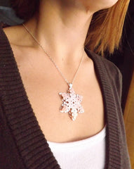 Artisan Crafted Snowflake Necklace