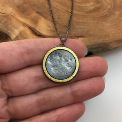 Solar Eclipse - Silver & 24K gold