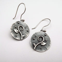 Spring Charms Silver Earrings