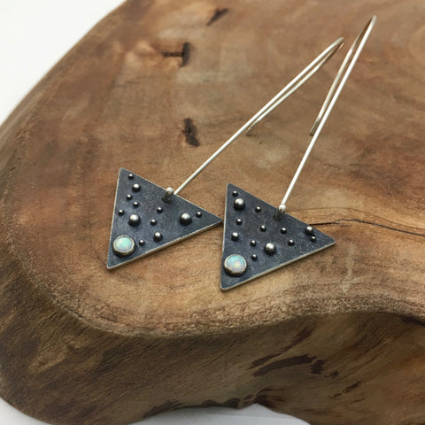 Starlit Triangle Earrings