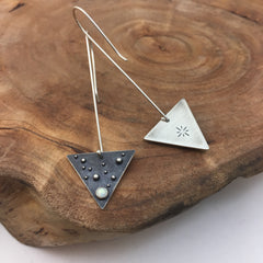 Triangle Earrings Front & Back Details
