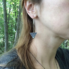 Artisan Triangle Earrings
