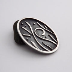Will-o'-Wisp Silver Brooch