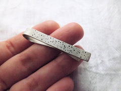 Dot Tie Bar in Solid Silver - Skinny or Standard