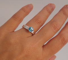 Topaz Engagement Ring - Front View