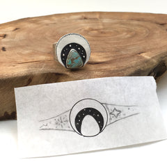Original Sketch & Finished Ring