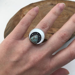 Turquoise Night Sky Ring - Size 6