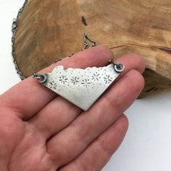 Hand Stamped Necklace Detail