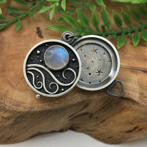 Windy Night & Moonstone Locket