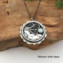 Windy Sky with Opal
