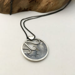 Wind & Cloud Pendant - Back Detail