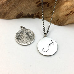 Zodiac Constellation & Moon Charm
