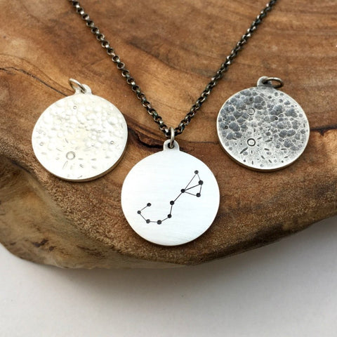 Full Moon & Zodiac Constellation Charm