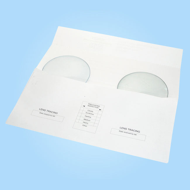 Double Lens Paper Envelope DLE-85 - Plain White, 85MM