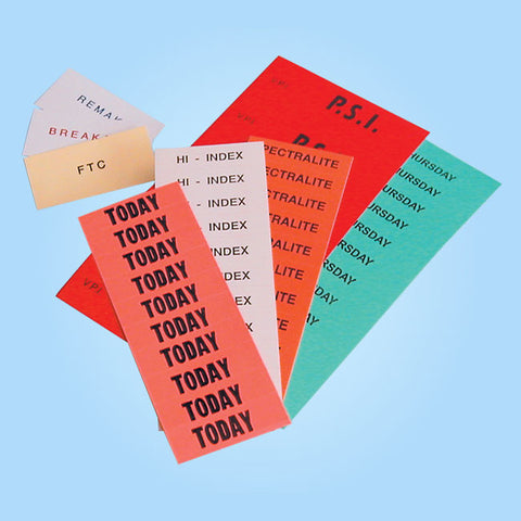 Slip-In Tray Cards / Labels TRCD - Plain
