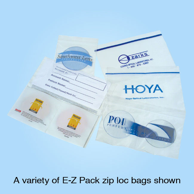 Reclosable Zip Loc Poly Bags ZP74 - Double Lens, Pair