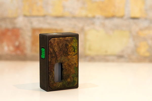3D Printed Mechanical Squonk Mod by Rig Mod Blue Green