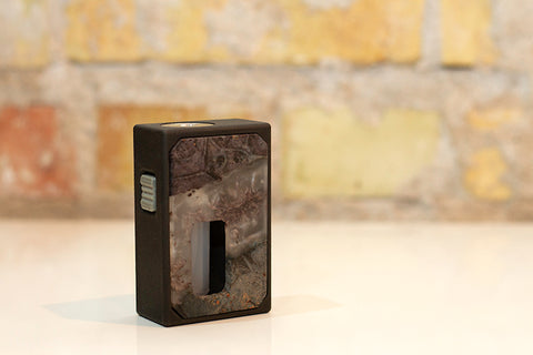 RMJ 3D Printed Mechanical Squonk Mod by Rig Mod Grey Clear