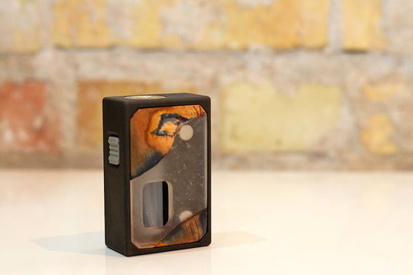 3D Printed Mechanical Squonk Mod by Rig Mod Wood Clear
