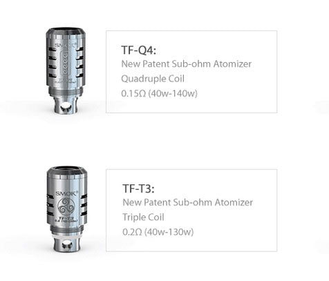 SMOK TFV4 Sub Ohm Tank TF-Q4 0.15 TF-T3 0.2 Ohm Replacement Coils