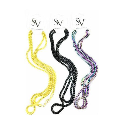 Smoking Vapor Mi-Pod Chain Gold Black Rainbow