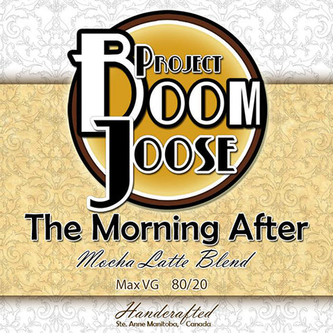 60ml Project BoomJoose The Morning After European Mocha Latte Coffee Hot Chocolate Drink Eliquid Ejuice