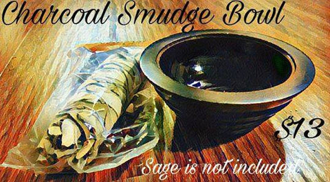 Charcoal Soapstone Smudge Bowl or Pot