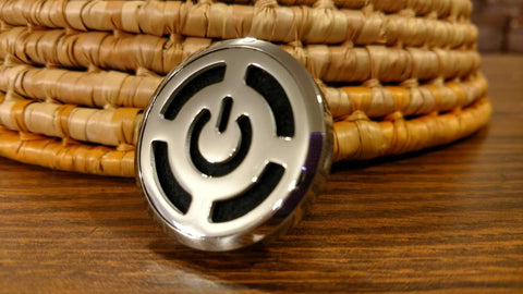 Power Button Essential Oil Car Diffuser Locket