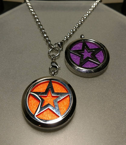Star Essential Oil Locket Necklace