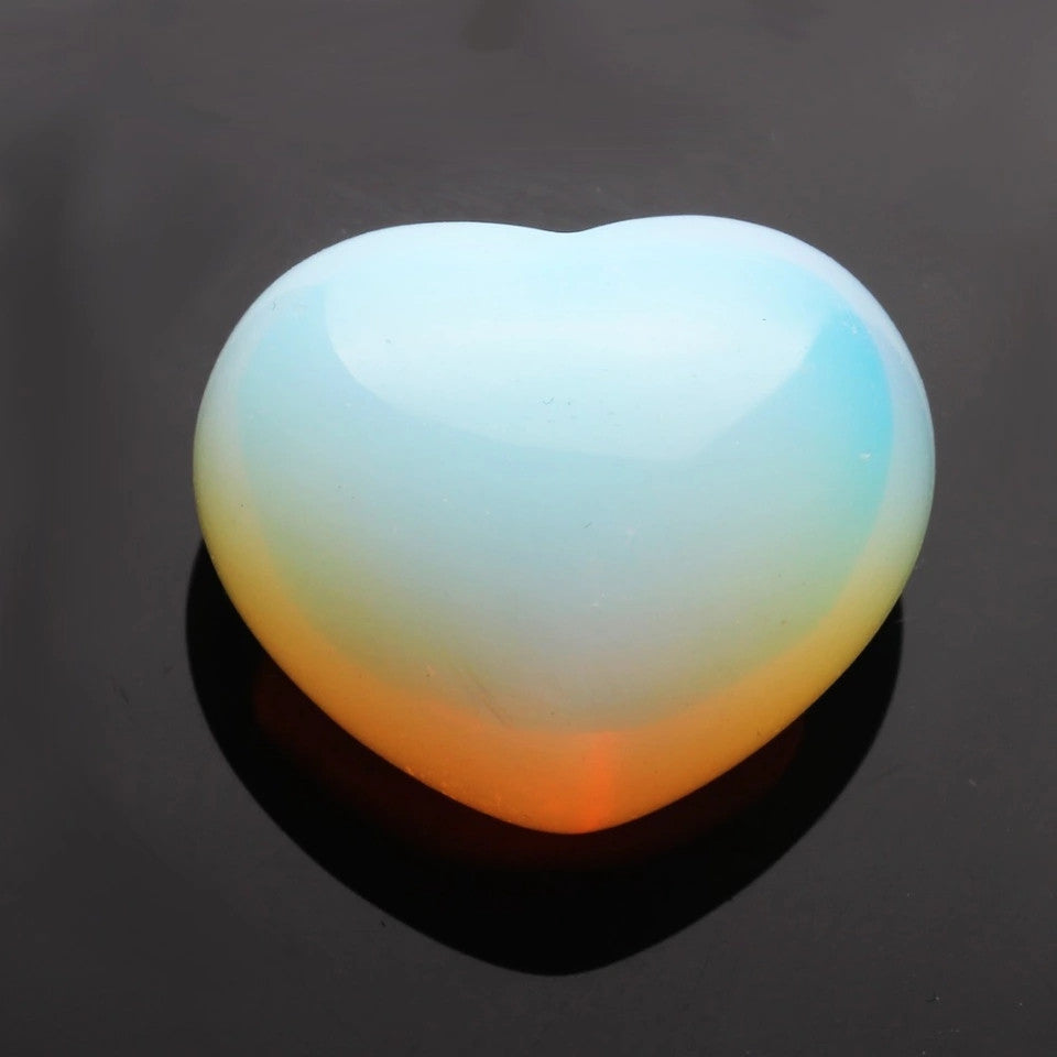 Opalite Natural Stone Heart Shaped