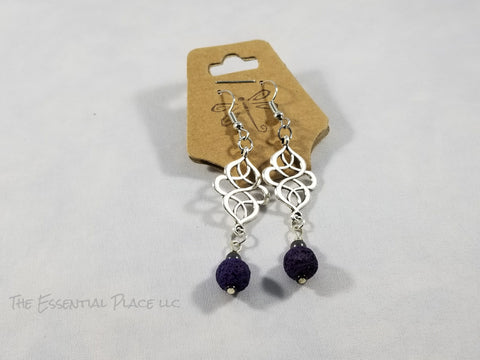 Chinese Knot Aromatherapy Lava Earrings