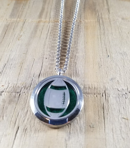 Football Essential Oil Diffuser Necklace