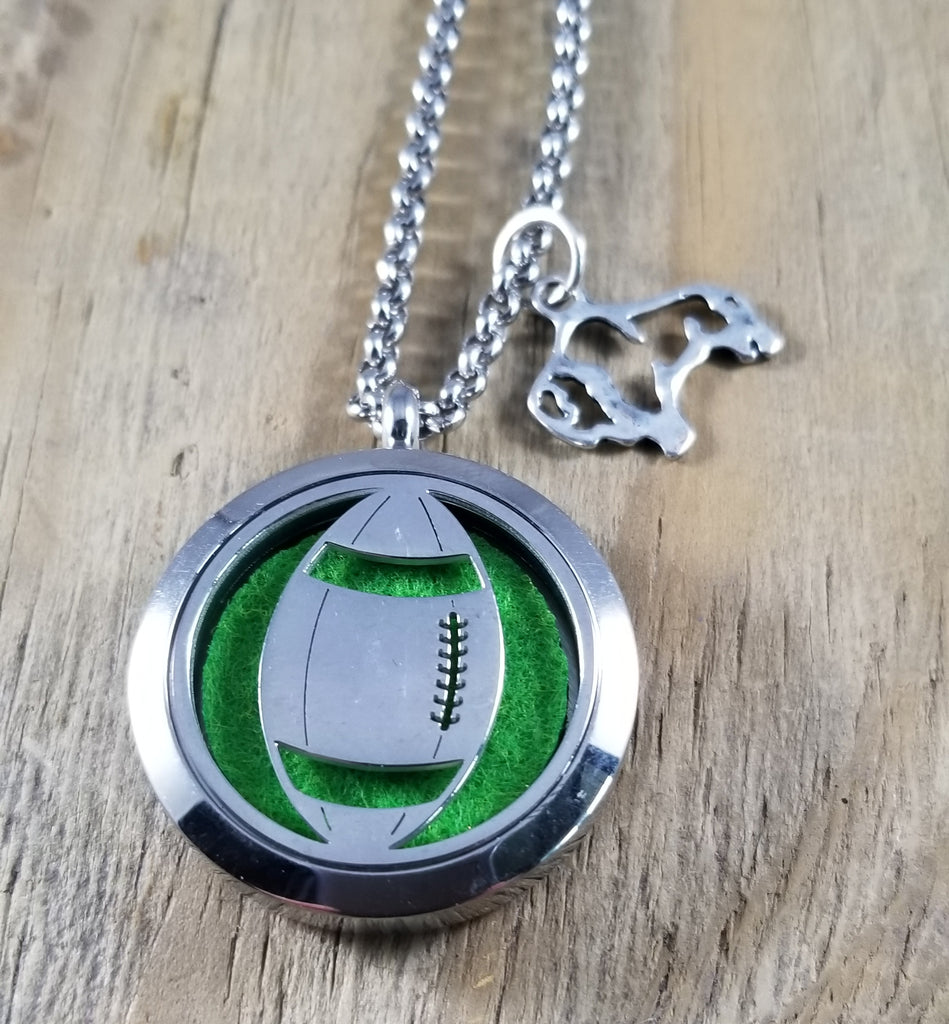 Bison Football Essential Oil Diffuser Necklace