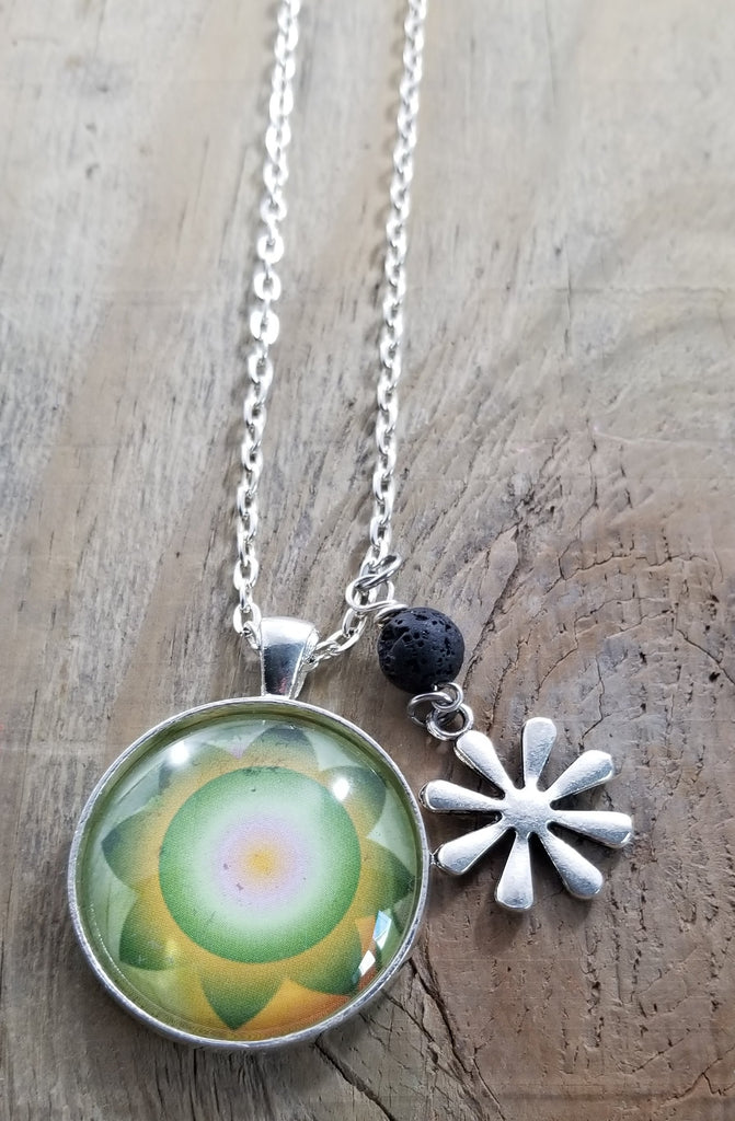 Flower Power Essential Oil Lava Diffuser Necklace