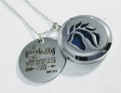 Horse Fearfully and Wonderfully Made Essential Oil Locket Necklace