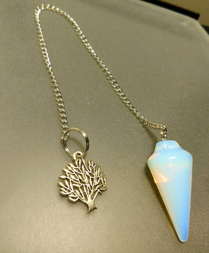Tree of Life Opalite Pendulum