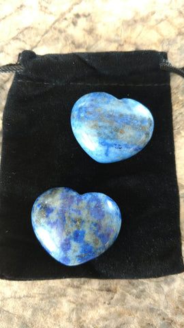 Lapis Lazuli Natural Stone Heart Shaped