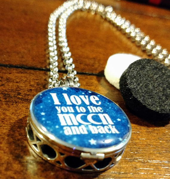 Love you to the Moon Essential Oil Diffuser Necklace